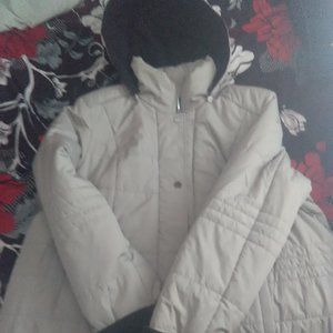 Cream (Tan Colour) Hooded Jacket in 2X-Plus Size